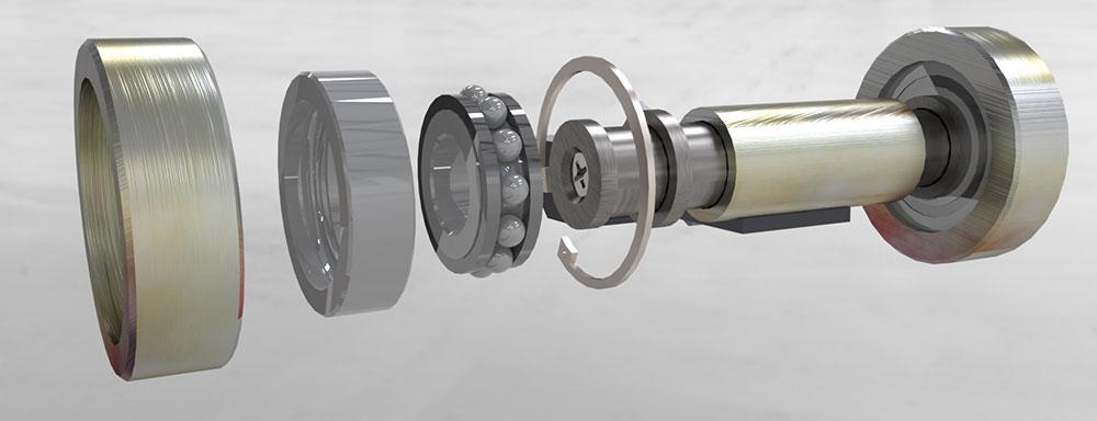 Autostacker safety lock wheel