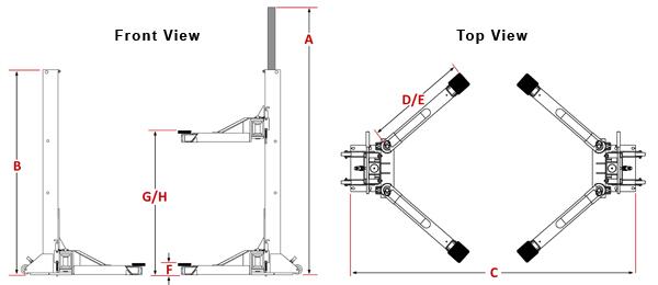 dannmar maxjax systems 6 000 lbs 2 post lift open top and bottom rh eautotools com two post car lift manual 2 post car lift installation manual