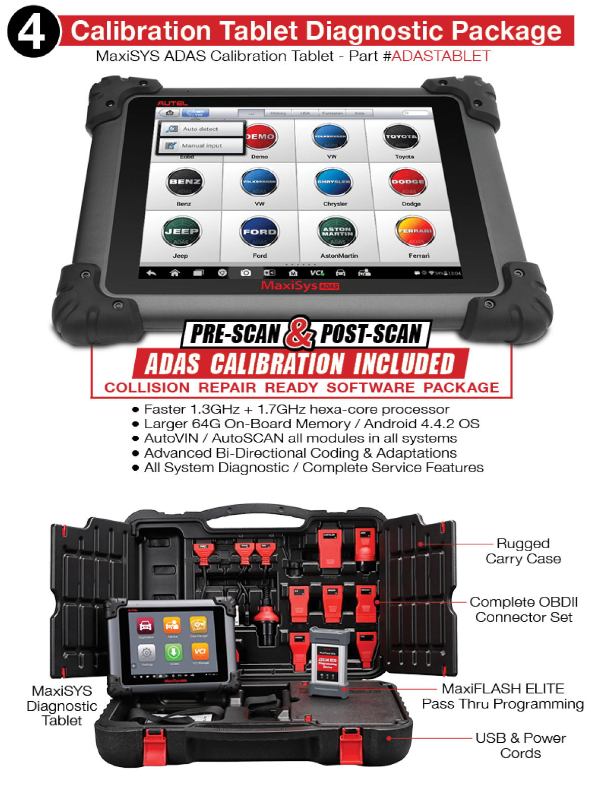 Autel MaxiSys Scan Tool with ADAS Calibration Tablet